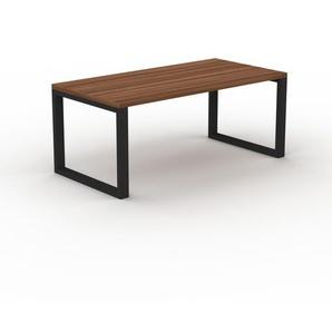 Holztisch Massivholz Nussbaum, zertifiziertes Holz - Eleganter Esstisch, Massivholztisch: Einzigartiges Design - 180 x 75 x 90 cm, konfigurierbar