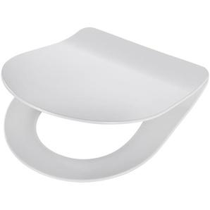 WC-Sitz »Trento«, Premium, extra flacher Sitz, Absenkautomatik, abnehmbar weiß