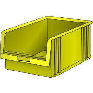 LISTA Lagersichtbehälter (BxTxH) 311x492x199mm Grösse 6 gelb