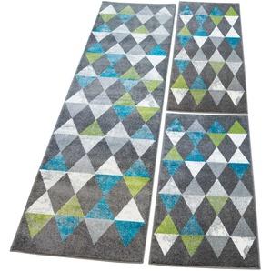 Carpet City Bettumrandung   »Moda 1530«, 14 (2x Brücke 150x80 cm & 1x Läufer 300x80 cm), 11 mm Gesamthöhe, grau