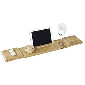 SoBuy® 80cm Lang- Schöne Badewannenablage, Badewannenbrett, Badewannenauflage, Halterung/Halter für iPad oder Handys, FRG104-L-N