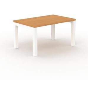 Designer Esstisch Massivholz Buche - Individueller Designer-Massivholztisch: mit Tischrahmen - Hochwertige Materialien - 140 x 76 x 90 cm, Modular