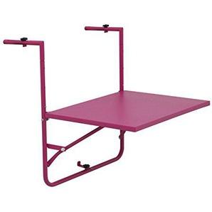 Siena Mybalconia 255033 Balkonhängetisch,matt-pink Stahlgestell matt pink