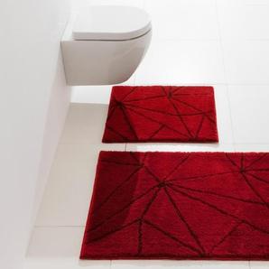 Badteppich, rot, Gr. 55/50 cm, Kleine Wolke, Material: Polyacryl
