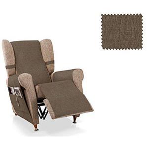 JM Textil Sesselschoner Relax Larissa Größe 1 Sitzer (55 cm), Farbe Nerz
