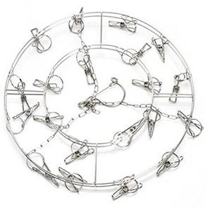 Nikgic Silber Runde 35 * 5 cm Multifunktionale Unterwäsche Kleiderbügel 20 Hohe Qualität Edelstahl Kleiderbügel Sparen Platz