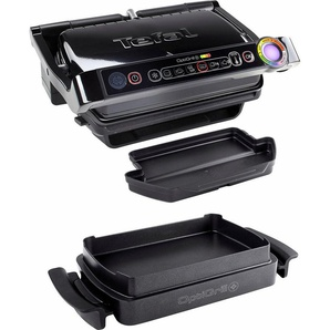 Tefal Kontaktgrill GC7148 Optigrill+ mit Snacking & Baking Zubehör, 2000 W