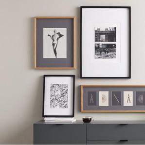 Portland Bilderrahmen 30 x 40 cm, Eiche mit grauem Passepartout (23 x 18 cm)