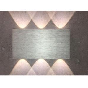 B-Leuchten In+Outdoor LED Wandlampe IP54 STREAM Alu/Hellgrau eloxiert