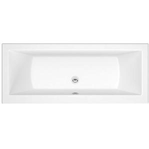 Hudson Reed Einbaubadewanne - Rechteckige Badewanne aus Acryl in Weiß - 1700 x 700 mm