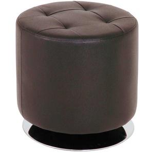 Sitzhocker mit Kunstlederbezug Drehbar