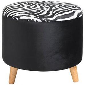 Hocker Zebra, D:52cm x H:47cm, schwarz