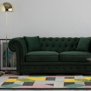 Branagh 2-Sitzer Sofa, Samt in Tannengruen