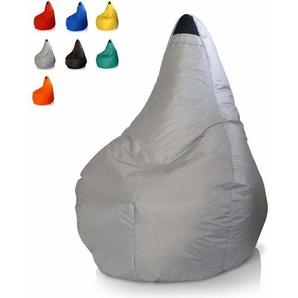 Garten-Sitzpuff outdoor Sitzsack bunt wasserdicht abziehbar SUMMER | Farbe: Grau - BEACH AND GARDEN DESIGN