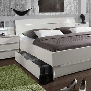 Schubkasten-Doppelbett Salford, weiß, 180x200 cm