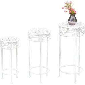 Blumenständer, 3er-Set Weiß