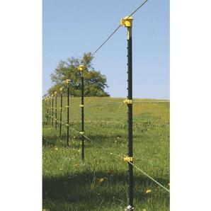 T-Pfosten Band-Starterset für ca. 150 m Zaun 1,45 m hoch, gelbe Isolatoren - AVERDE