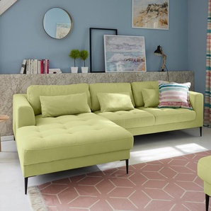 Guido Maria Kretschmer Home&living Ecksofa »Pyrus«, grün, Inkl. loser Zier- und Rückenkissen