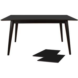 Nora - Esstisch ausziehbar, Schwarz, 150/190/230 cm