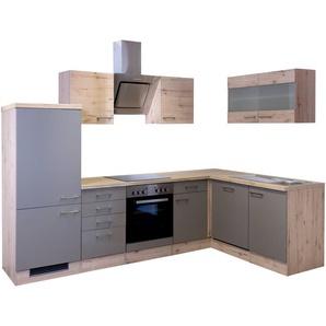 Küchenzeile mit E-Geräten »Winkel-Küchenzeile »Riva«, 280 x 170 cm«