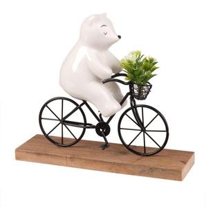 Bär auf dem Fahrrad, Porzellan H18