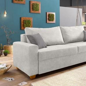 Home Affaire Schlafsofa »Merano«, silber, B/H/T: 230x47x52cm, komfortabler Federkern, hoher Sitzkomfort