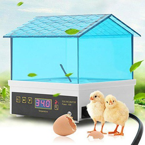 Zerone Inkubator-Inkubator,Digitaler Hühner- und Enteninkubator mit 4 Inkubatoren