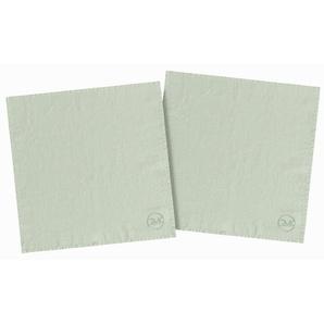 Stoffserviette , grün, 40x40cm, Öko-Tex-Zertifikat, »stone washed«, , , Guido Maria Kretschmer Home&Living