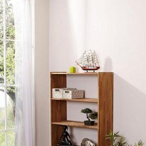 Ticaa Standregal in 4 Höhen von 111 - 214 cm, Eiche, beige