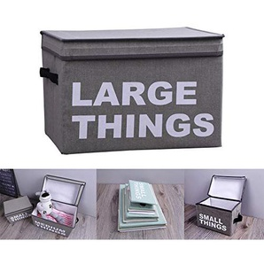 Baumwolle und Linen Storch Box Folding Art Printing Letter Storage Box mit Deckelkleidung Storage-Box,Gray,41 * 28 * 28