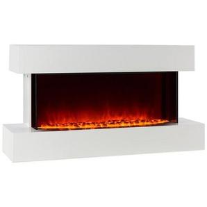 Klarstein Elektrischer Kamin LED-Flammensimulation 1000/2000W 40m² weiß »Studio 2«