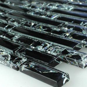 Glasmosaik Fliesen Effekt Mosaik Schwarz Gebrochenes Glas Effekt