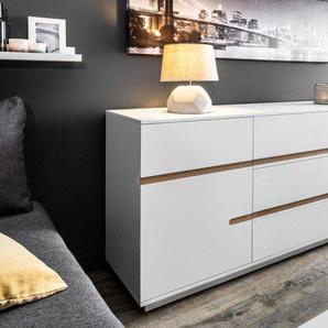 Modernes Design Sideboard ELEMENTS 160cm edelmatt weiß