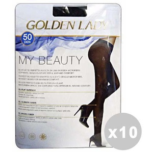 My beauty Set 10 my beauty Strumpfhose 50 DEN Schwarz Gr. III 141L