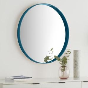 Essentials Bex grosser runder Spiegel (o 76 cm), Blaugruen