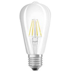 OSRAM LED-Lampe LED RETROFIT CLASSIC EDISON E27 4,5 W klar