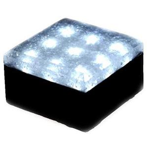 12V LED Pflasterstein 10 x 10 cm weiß