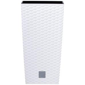 PROSPERPLAST Pflanzkübel »Rato square«, weiß, B/T/H: 32,5/32,5/61 cm
