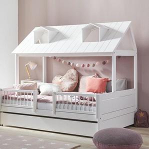LIFETIME Kinderbett Ferienhaus, weiß deckend, 140x200 cm