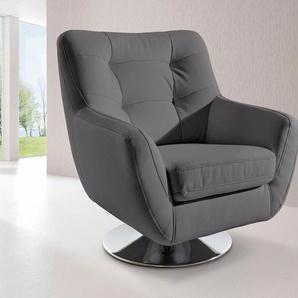 INOSIGN Sessel, mit Drehteller, blau, Kunstleder SOFTLUX®