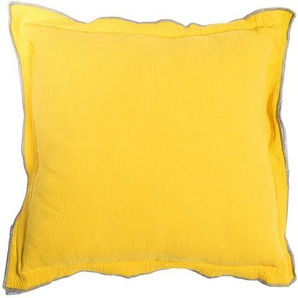 Wende-Kissen Twofaces, B:45cm x L:45cm, gelb/weiß