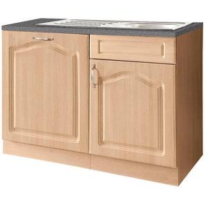 wiho Küchen Spülenschrank 110 cm breit, inkl. Tür für Geschirrspüler, beige