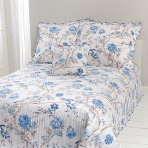 Damen Tagesdecke, blau, Gr. 180/250 cm,  home, 100% Baumwolle