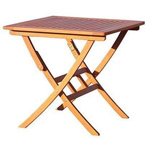 GRASEKAMP Qualität seit 1972 Gartentisch Santos 80x80cm Klapptisch Balkontisch Holztisch Bistrotisch