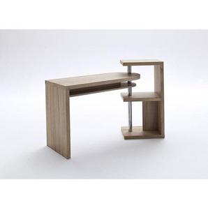 B rotische schreibtische in braun preise qualit t for Schreibtisch schwenkbare tischplatte