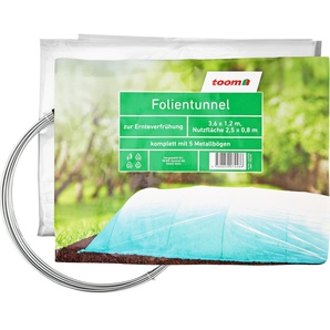 Folientunnel 0,09 mm transparent 120 x 360 cm