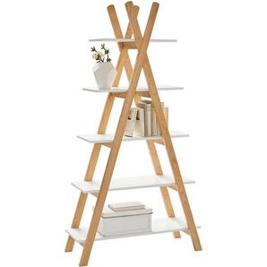 Xora: Regal, Holzwerkstoff,Pinie, Pinien, Weiß, B/H/T 89,6 170,3 35