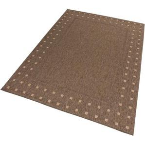 Lalee Teppich »Finca 520«, 60x110 cm, fussbodenheizungsgeeignet, 5 mm Gesamthöhe, braun
