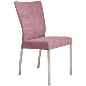 Stuhl in Weinrot Stoffbezug (2er Set)