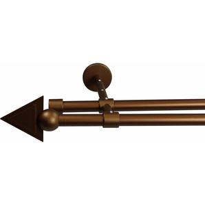 Gardinenstange 16 mm Pyra, ohne Ringe, mit geschlossenen Träger, nach Maß